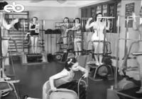 Naisten kuntosali 1950-luvulla