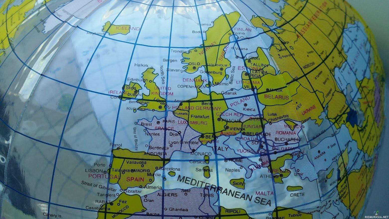 Tarkka Euroopan Kartta Puhallettavassa Rantapallossa