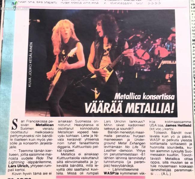 Metallica Lämppäri