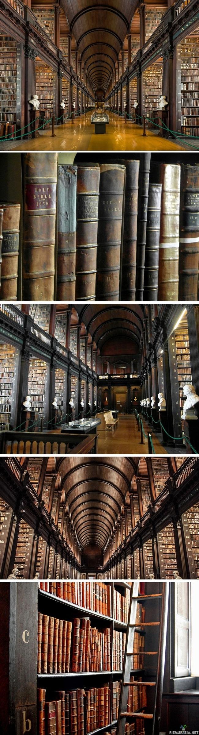 300 vuotta vanha kirjasto Dublinissa