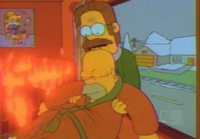 The Simpsons - Ned Flanders saves Homer from a fire