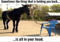 Sometimes the thing that is holding you back..