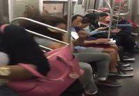 New Yorkin metroissa tapahtuu
