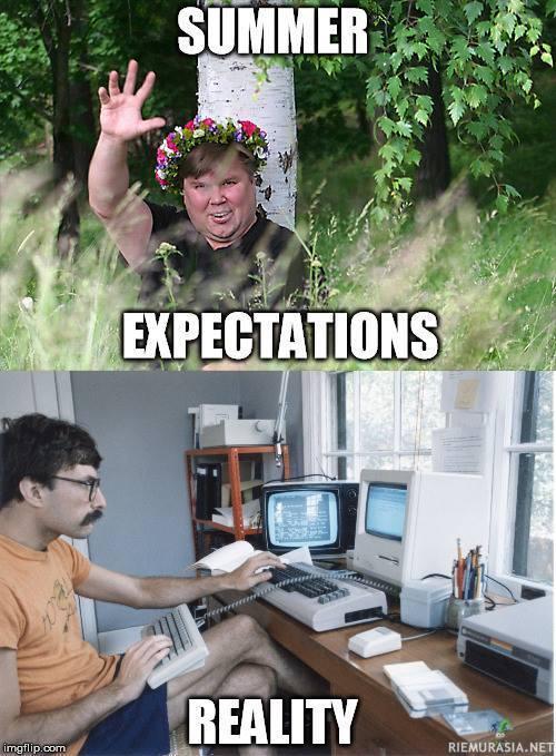 Odotukset kesälle