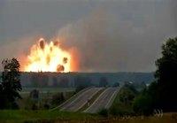 Ammusvarikko räjähtää Ukrainassa