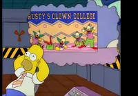 Homer Simpsons Clown College Ad gets to Homer