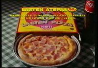 Kotipizzan 'Lasten ateria' mainos 1990-luvulta