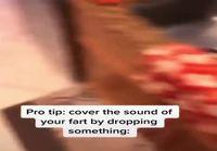 Protip: Tiputa jotakin lattialle peittääksesi pierun ääni