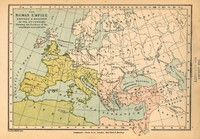 The Roman empire eastern & western in th 4th century