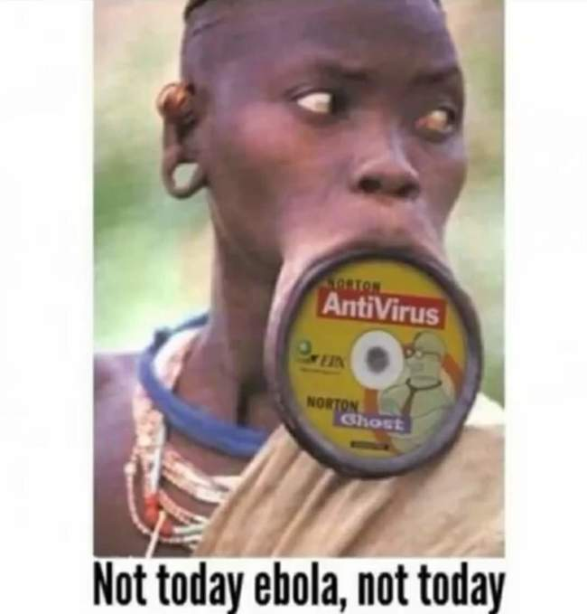 Not today - Bot today ebola