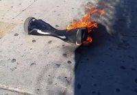 Tasapainoskootteri tulessa