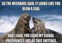 Blew a seal
