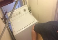Thunderstuck white trash washer cover