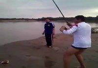 Oluella kalastusta