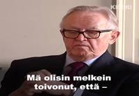 Presidentti Martti Ahtisaari kommentoi Paavo Väyrysen uutta puoluetta