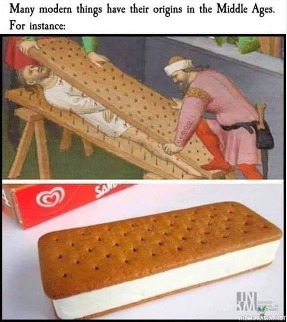 Monta asiaa nykypäivänä perustuu keskiajan keksintöihin
