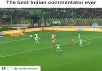 Intialainen selostaja pistää parastaan