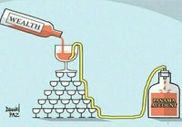 How trickle down economics really works
