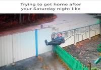 Kotiinpaluu Lauantain ja sunnuntain välisenä yönä