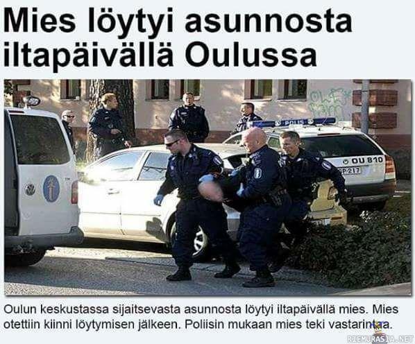 Mies Löytyi Asunnosta Oulussa