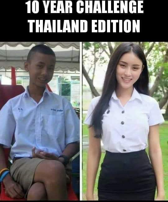 10 years challenge - Thailand Edition