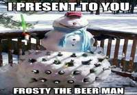 Frosty the beerman