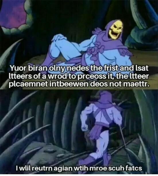 Skeletor kertoo aivoista