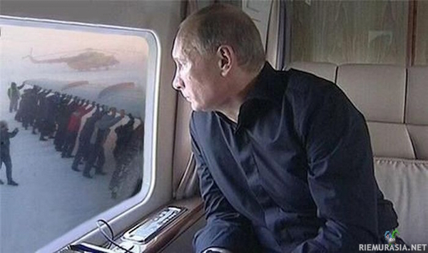 Putin kyydissä
