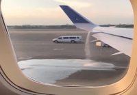 United Airlines koneen kerosiinivuoto