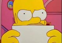 Homer napsahtaa kiitoskortista