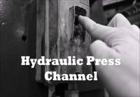Hydraulic press channel crushing adamantium.