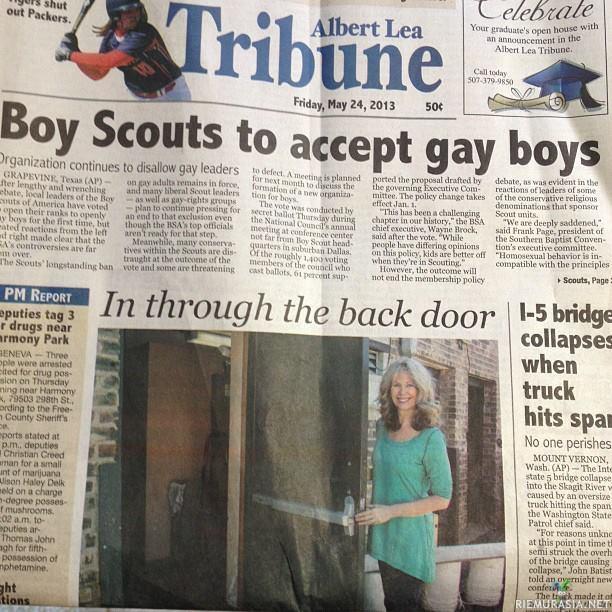 Scout homo seksiä