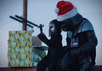 Darth Santa strikes again
