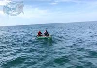 Taistelu valtavan meriahvenen kanssa, kalastajien kanoottikin meni nurin!